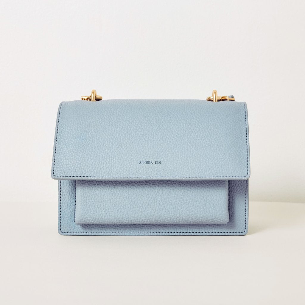 Eloise Satchel in Light Nude Blue