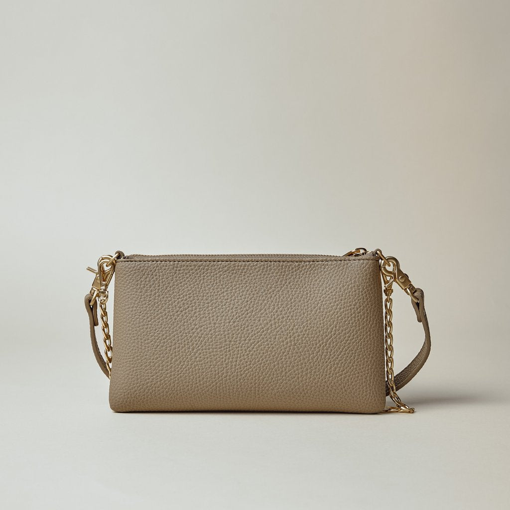 Zuri Multifunction Pouch in Light Mud Grey