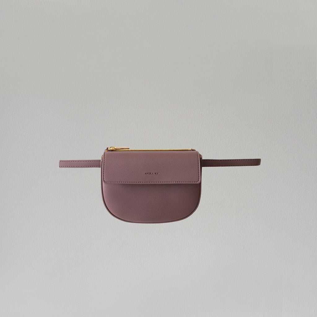Hamilton Belt Bag / Cross-body in Ash Rose front view