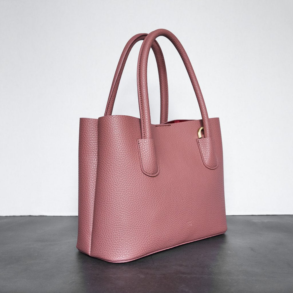 Cher Tote Mini with Signet in Nude Pink