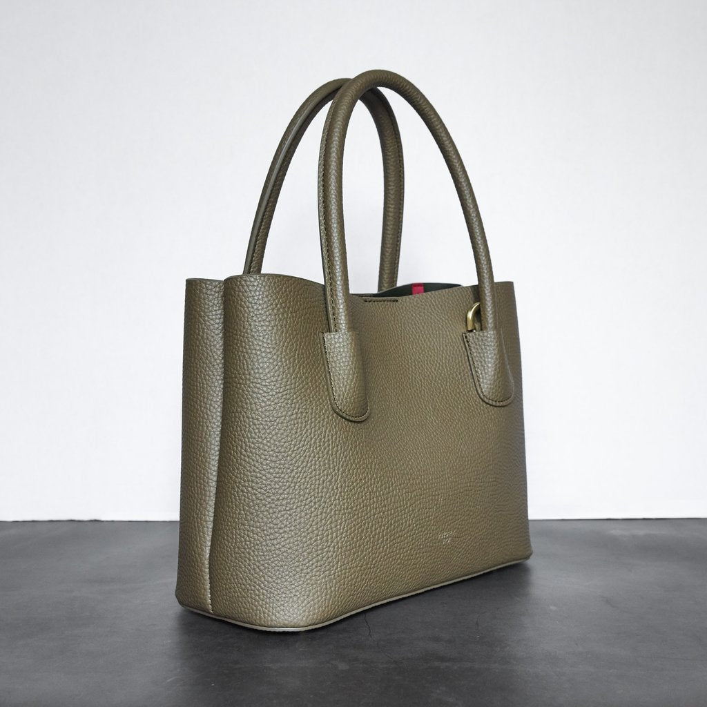 Cher Tote Mini with Signet in Ash Brown