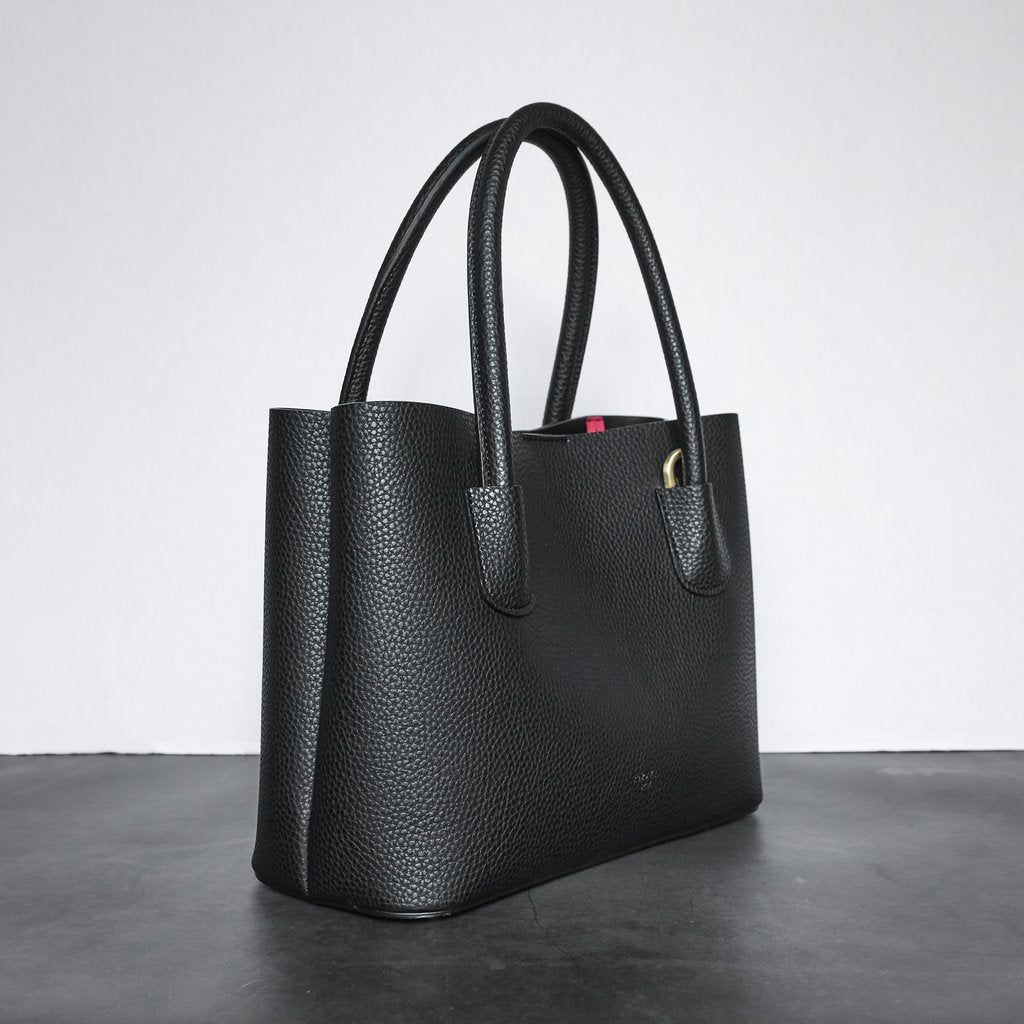 Cher Tote Mini with Signet in Black
