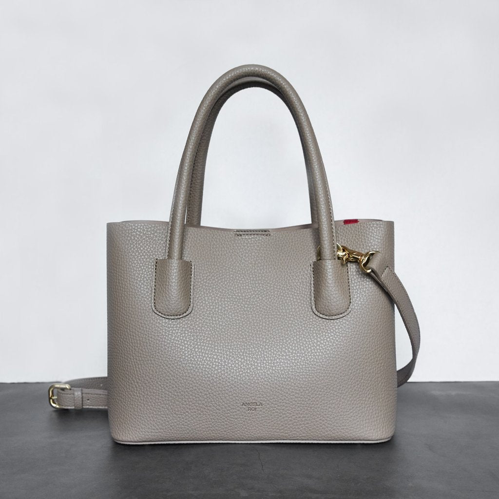 Cher Tote Mini with Signet in Light Mud Grey