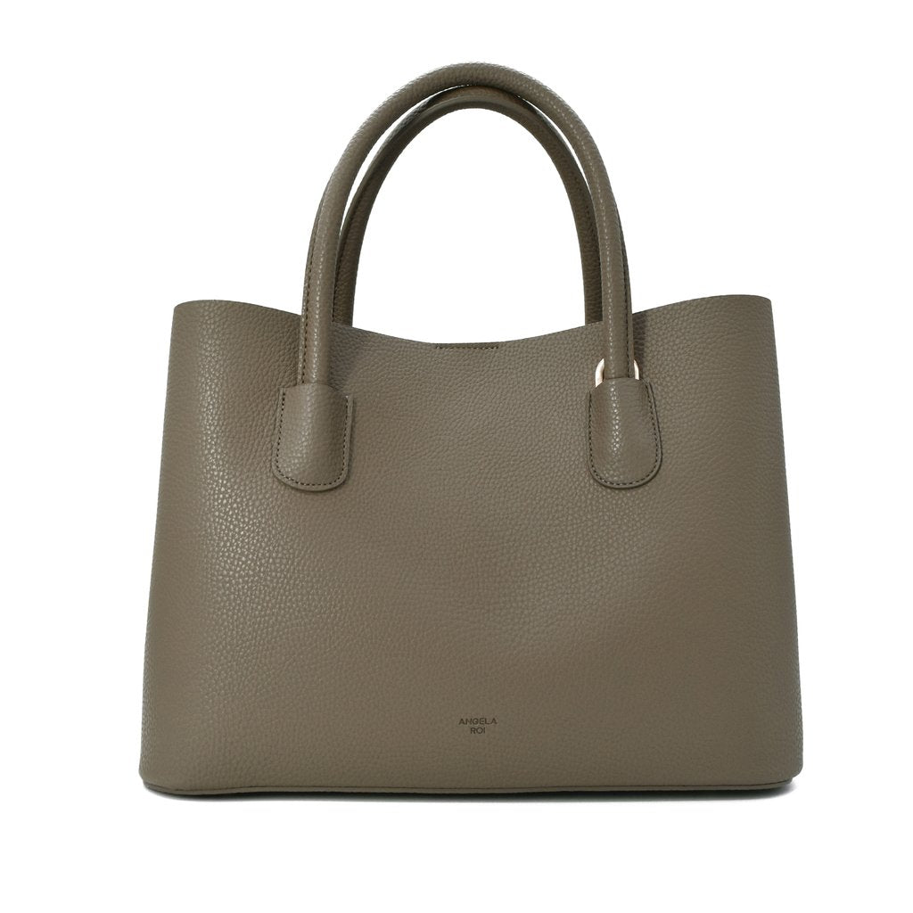 Cher Tote with Signet in Ash Brown