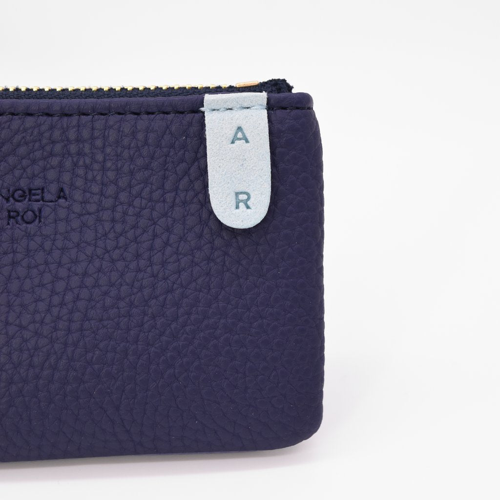 Zuri Card Pouch with Signet in Blue