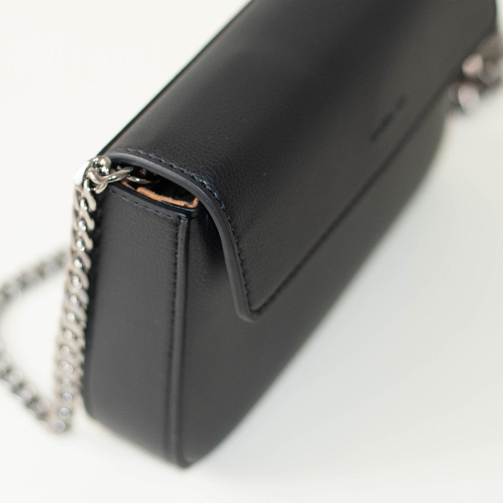 Angela Roi Vegan Hamilton Mini Chain Cross-body in Black, top view