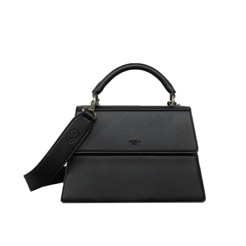 Hamilton Satchel with Signet in Black