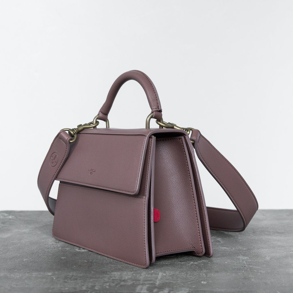 Hamilton Satchel with Signet in Ash Rose