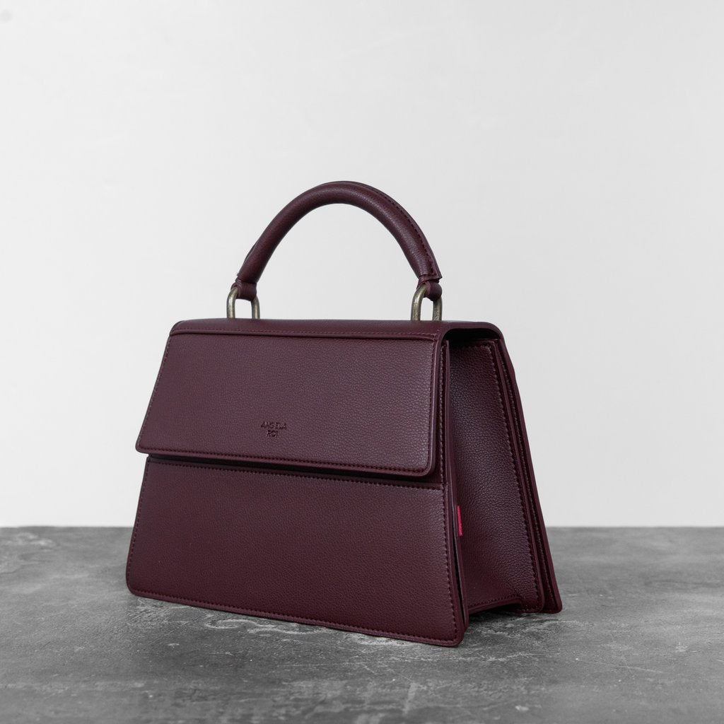 Hamilton Satchel with Signet in Bordeaux