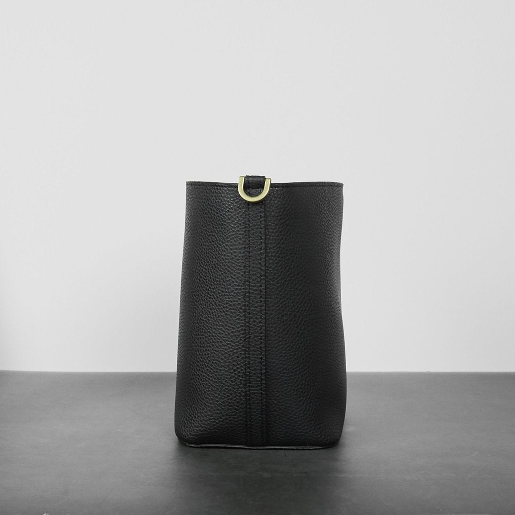Angelou Mini Bucket with Signet in Black