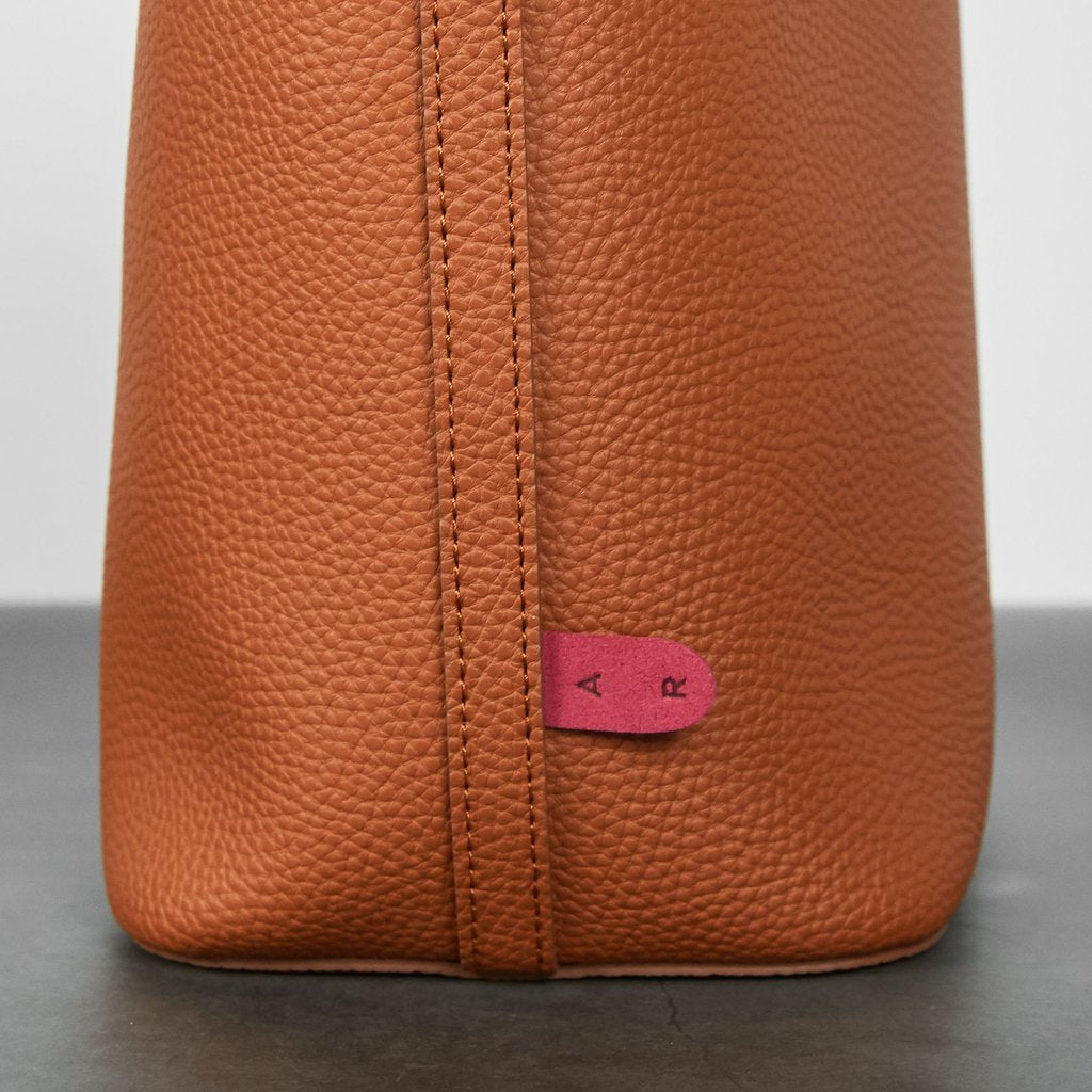 Angelou Mini Bucket with Signet in Brown