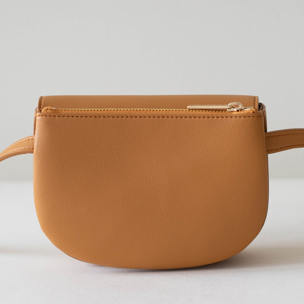 Hamilton Belt Bag / Cross-body in Mustard back view