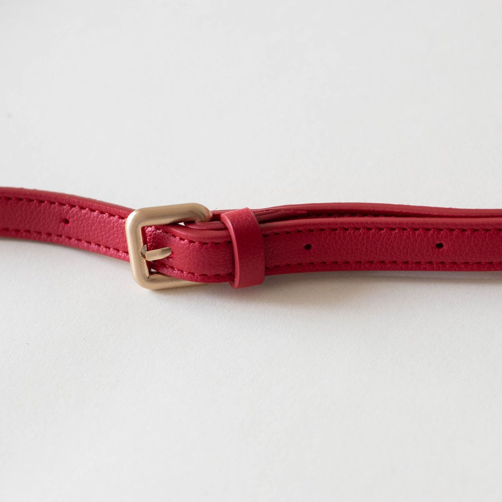 Hamilton Belt Bag / Cross-body in Red belt detail