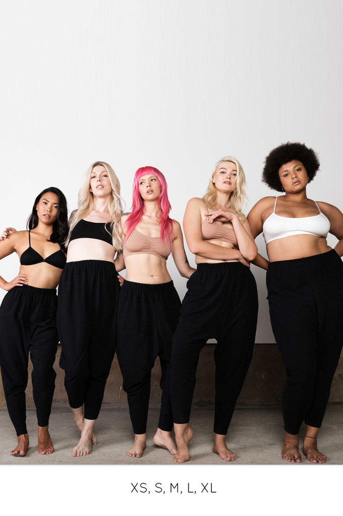 Miakoda Slouchy Pant, on 5 different models