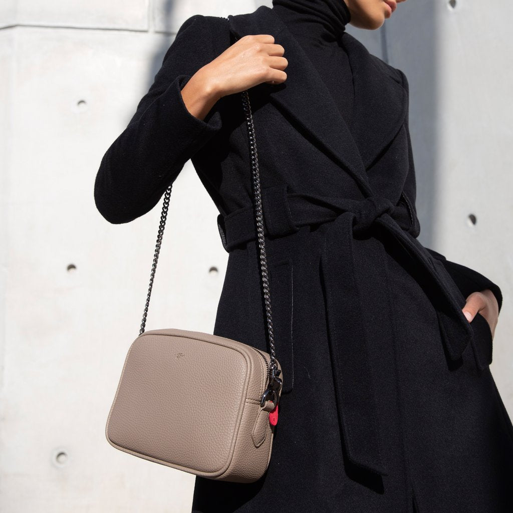Grace Mini Crossbody with Signet in Black