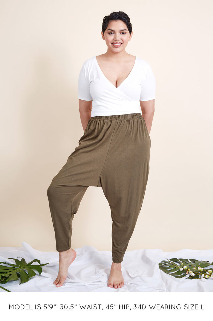The Organic Wrap Crop Top