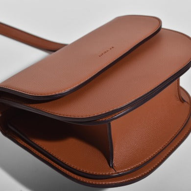 Angela Roi Vegan Hamilton Round Cross-body in Brown, bottom view