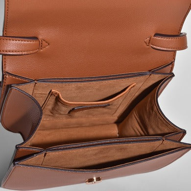 Angela Roi Vegan Hamilton Round Cross-body in Brown, inside view