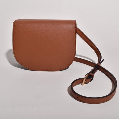 Angela Roi Vegan Hamilton Round Cross-body in Brown, back view