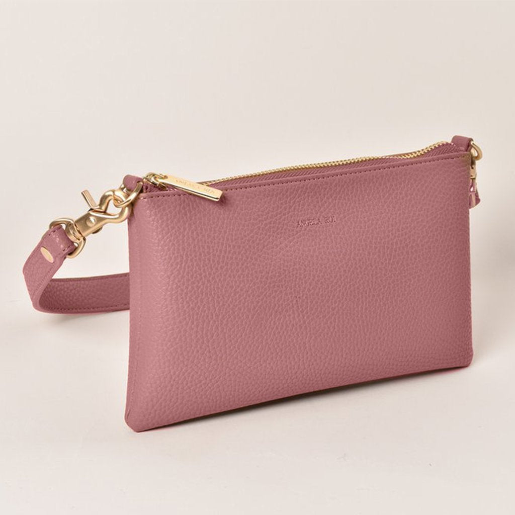 Angela Roi Vegan Zuri Multifunction Pouch in Nude Pink, front view