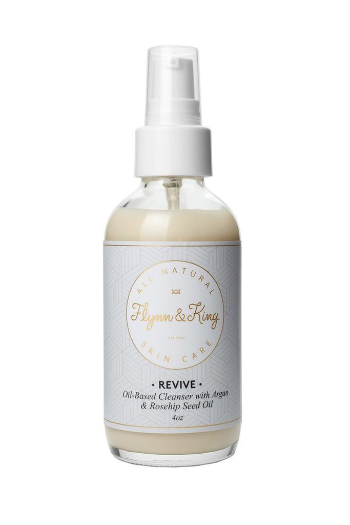 Flynn & King Revive Oil-Based Cleanser with Argan and Rosehip Seed Oil, 4 oz size