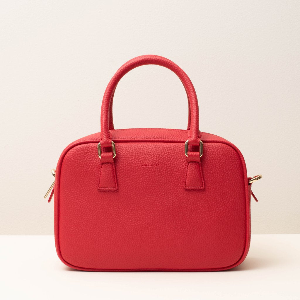 Angela Roi Vegan Barton Duffle Tote in Red, front view