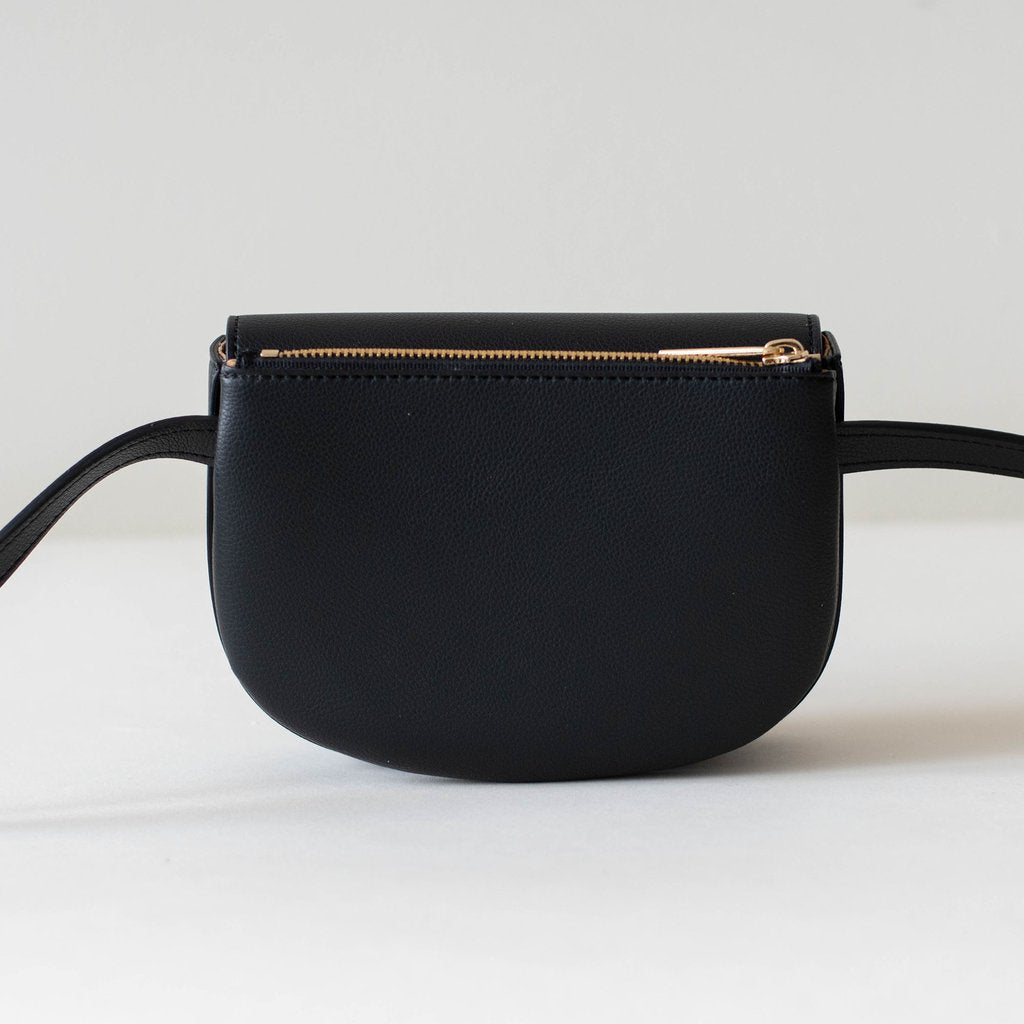 Hamilton Belt Bag / Cross-body in Black back view