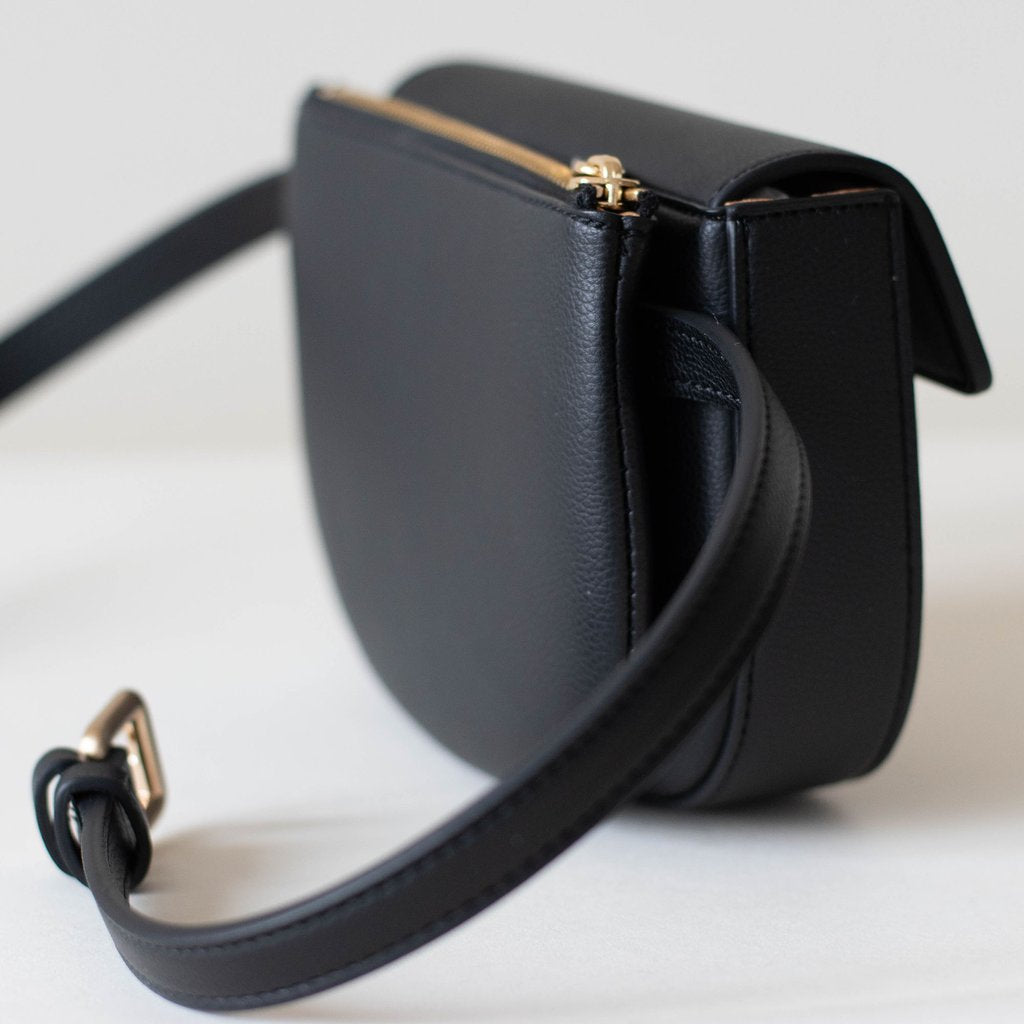 Hamilton Belt Bag / Cross-body in Black side view