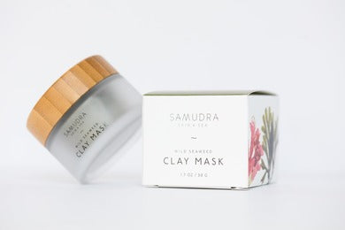 Samudra Skin & Sea Clay Mask, bottle and packaging
