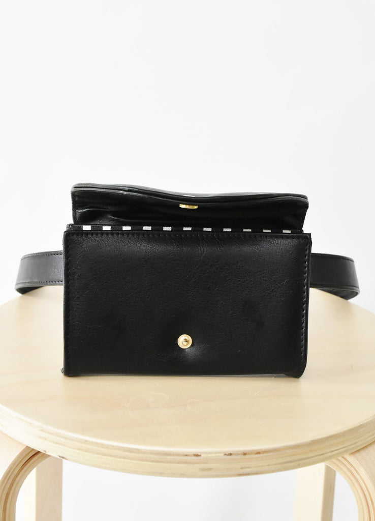 Ceibo Handcrafted Belt Bag in Black, top view