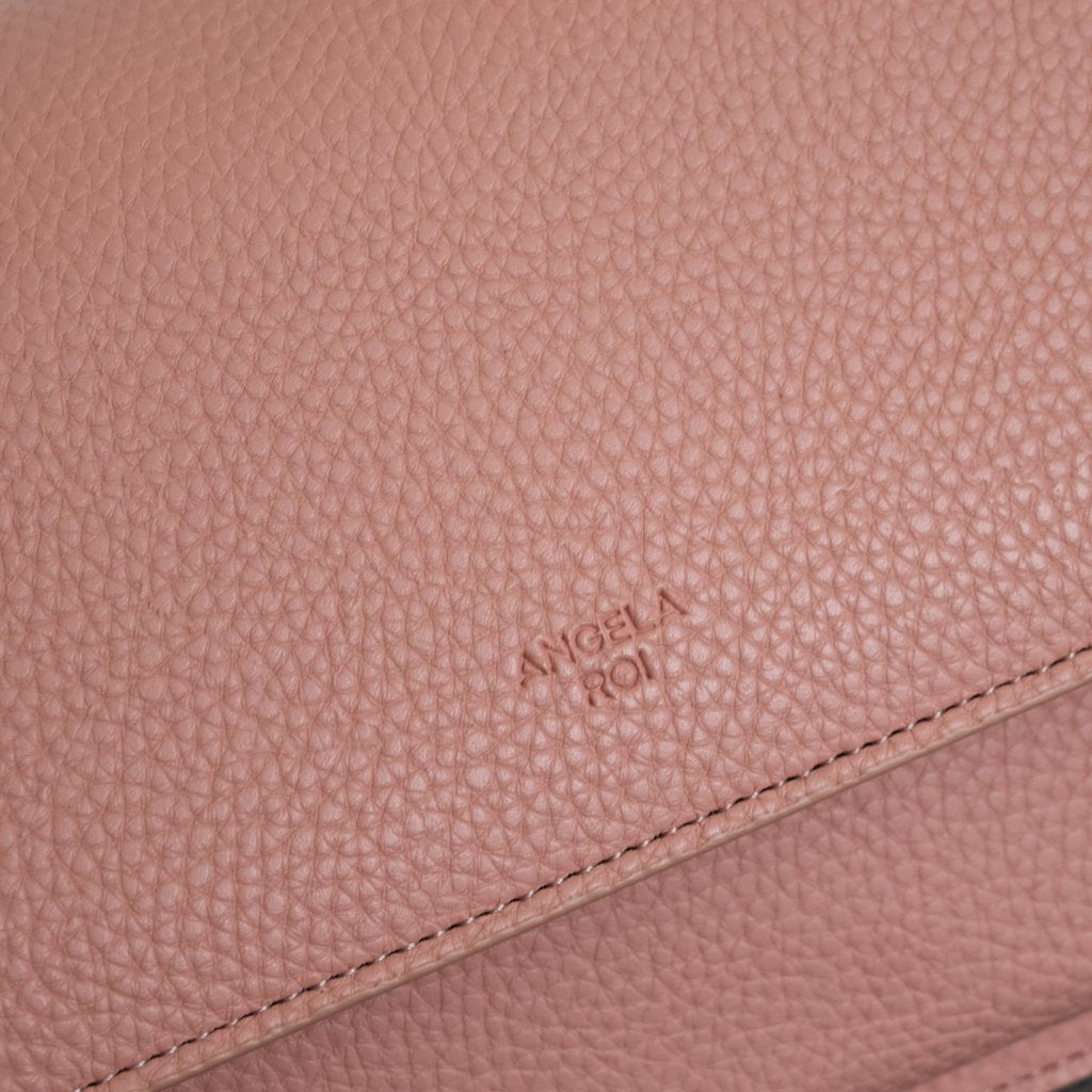 Eloise Satchel with Signet in Coral Pink