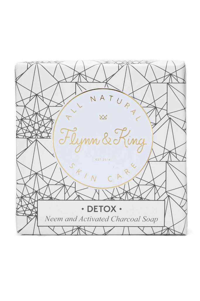 Flynn & King Natural Detox - Neem and Activated Charcoal Soap, 5 oz bar in packaging