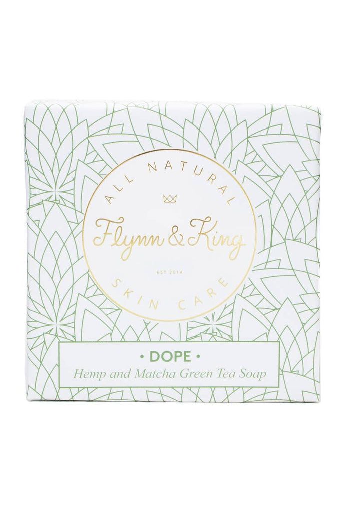 Flynn & King Organic Dope Soap - Hemp and Matcha Green Tea Soap, 5 oz packaging