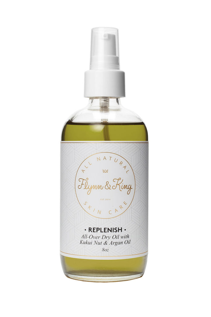 Flynn & King Replenish All-Over Dry Oil with Kukui Nut and Argan Oil, 8 oz size