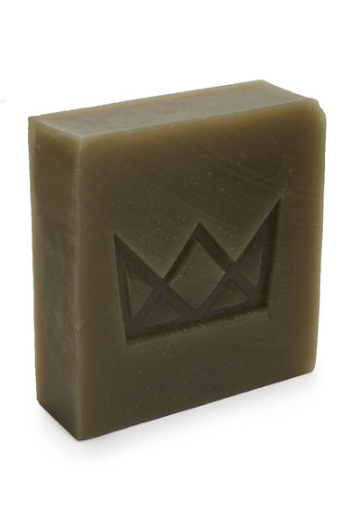 Flynn & King Organic Dope Soap - Hemp and Matcha Green Tea Soap, 5 oz bar beside packaging
