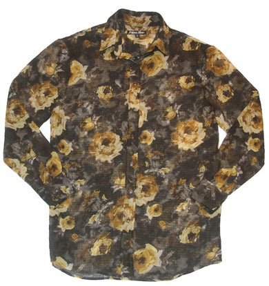 Delores Haze eco-friendly Helena Floral Button-down, front view