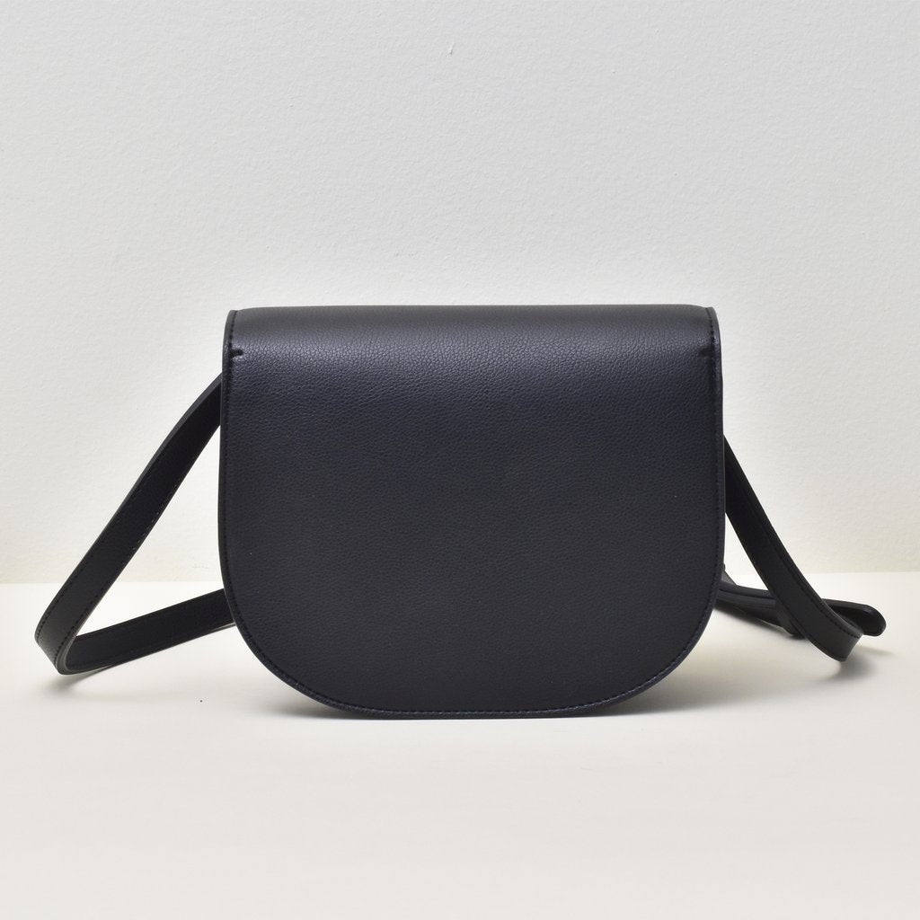 Angela Roi Vegan Hamilton Round Cross-body in Black, back view