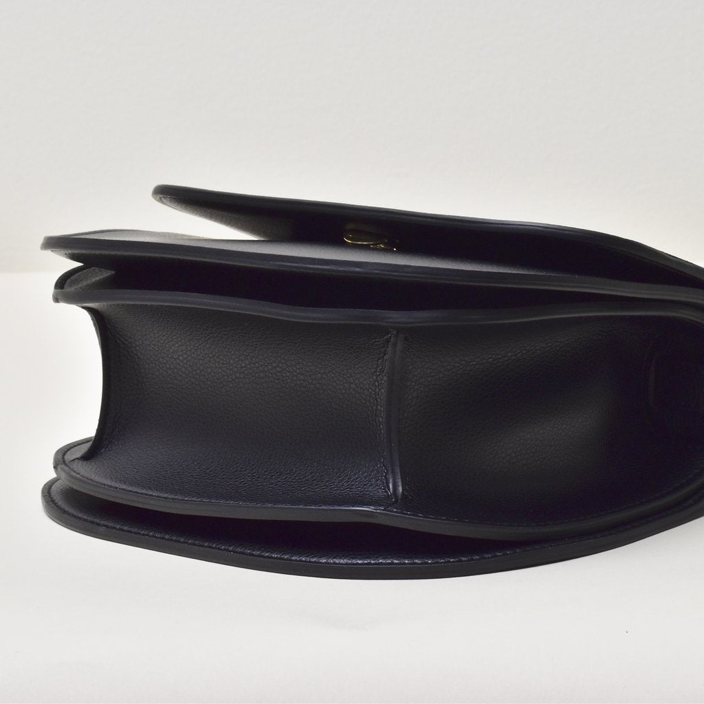 Angela Roi Vegan Hamilton Round Cross-body in Black, bottom view