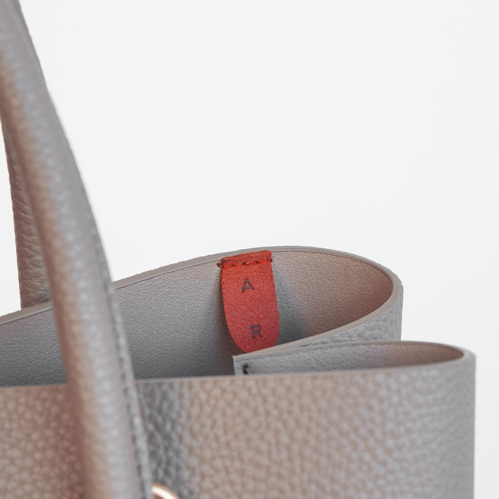 Cher Tote with Signet in Light Mud Grey