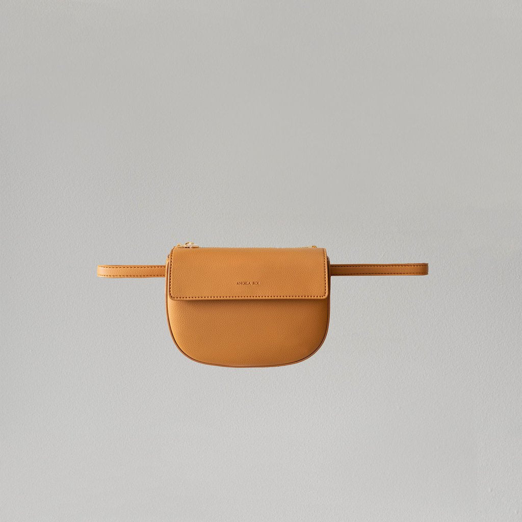 Hamilton Belt Bag / Cross-body in Mustard front view