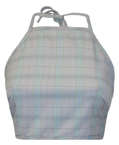 Delores Haze Randi Plaid Halter, front view