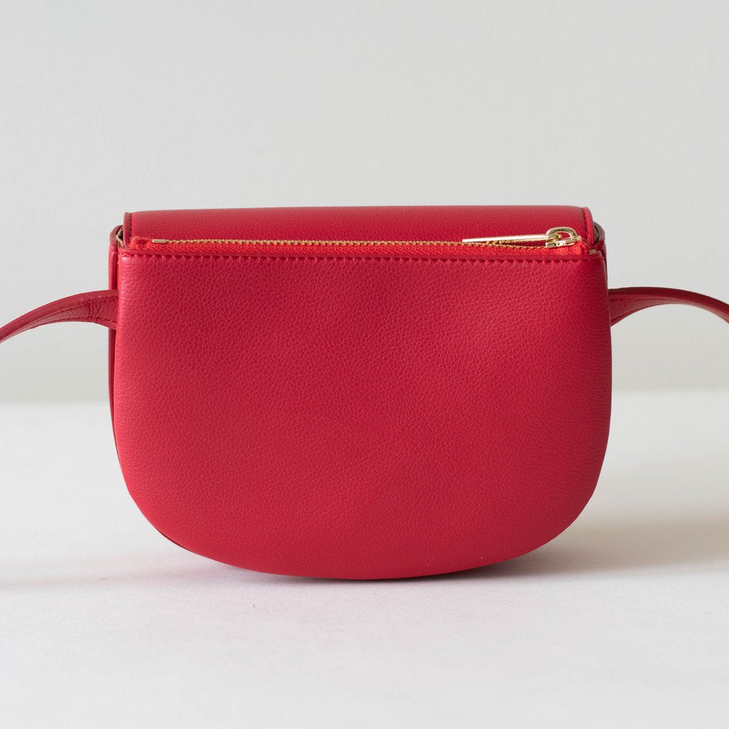 Hamilton Belt Bag / Cross-body in Red back view