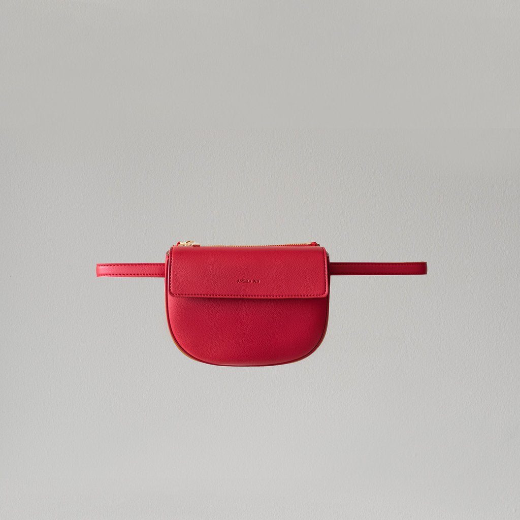 Hamilton Belt Bag / Cross-body in Red front view