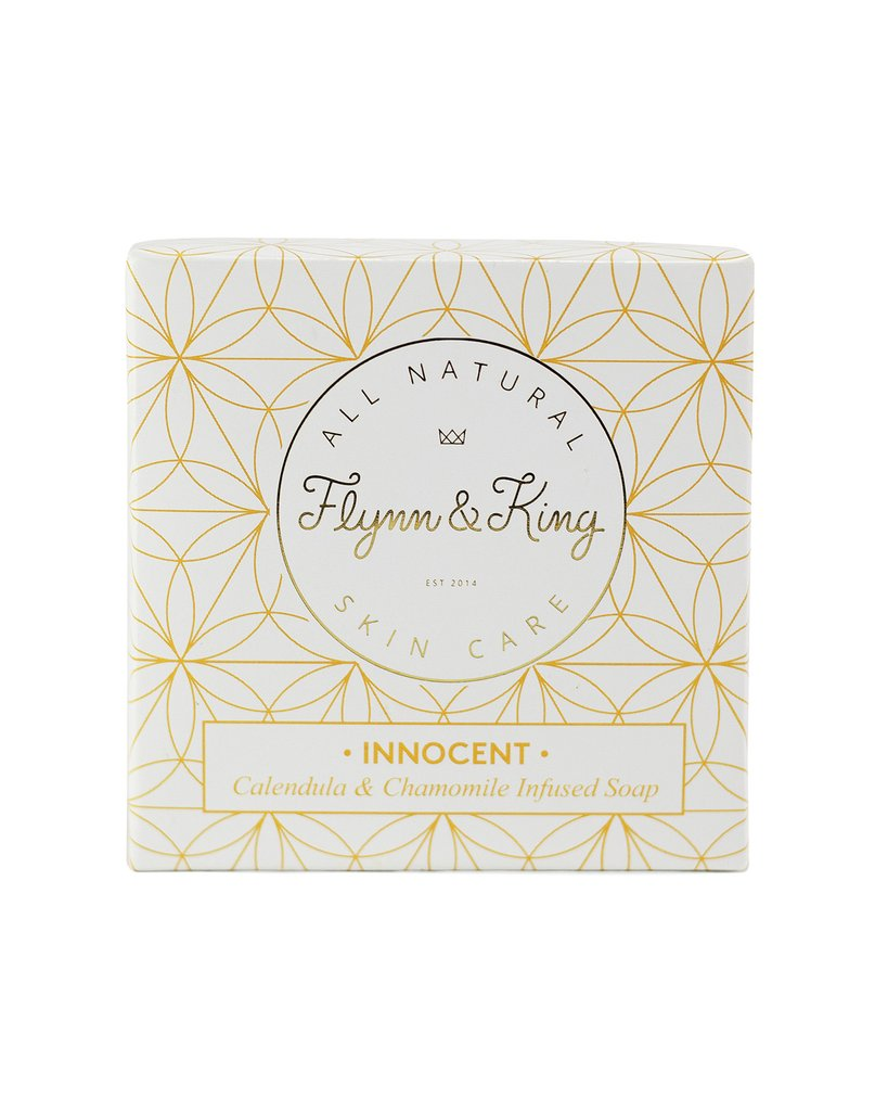 Flynn & King Innocent Calendula and Chamomile Infused Soap, 5 oz size