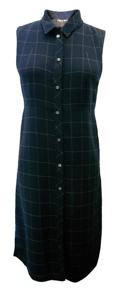 Tabitha Dress by Dolores Haze, Navy base with white windowpane