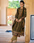 Olive Green Color Unstitched Velvet Winter Pakistani Suits