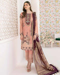 Peach Color Fox Georgette Unstitched Pakistani Salwar Kameez Suits