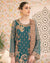 Teal Blue Color Fox Georgette Unstitched Pakistani Salwar Kameez Suits