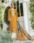 Mustard Color Eid 2021 Collection Pakistani Lawn Cotton Fabric Salwar Suit Dress Material