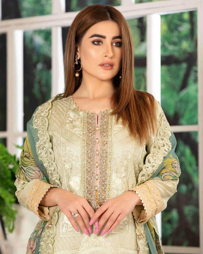 DESIRE BY TAWAKKAL 009 100% Original Unstitched Pakistani Suit